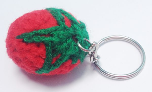 Crocheted Red Strawberry