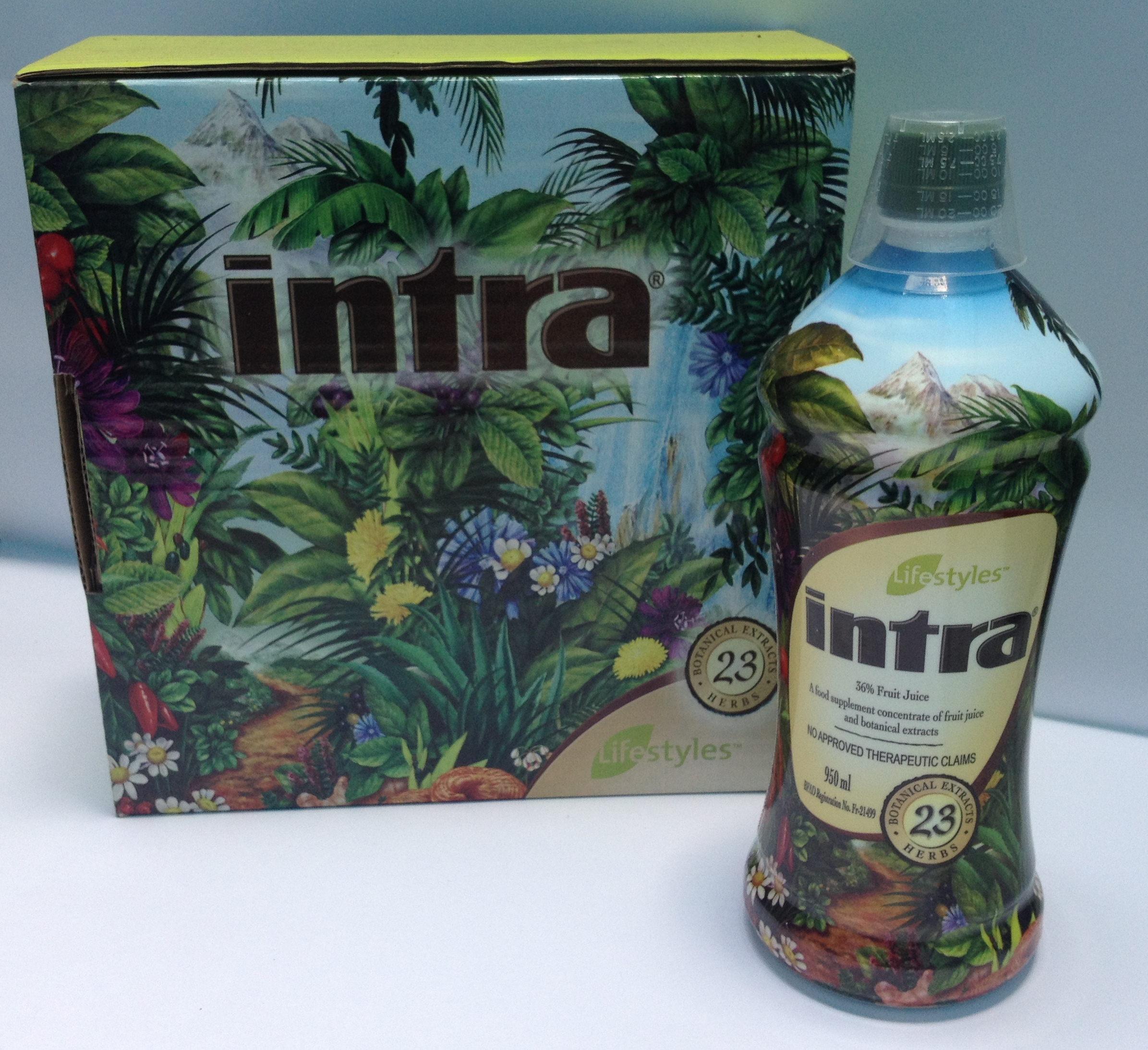 Intra Herbal Juice Lifestyle 950ml How May I Serve You?