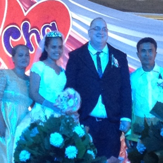 John and Charisse Wedding Pic with Bride Parents John and Charisse